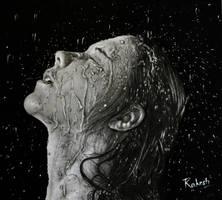 Water Splash Portrait by rak78374