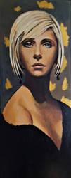 Golden Girl in Black by johnstevensartist