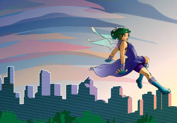 Michelle and Skyline by cmrollins
