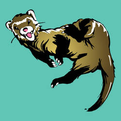 Ferret Mascot by cmrollins