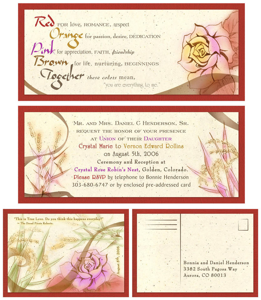 Wedding Invitations by cmrollins