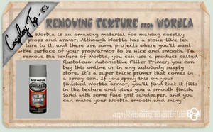 Cosplay Tip 51 - Removing Texture from Worbla by Bllacksheep