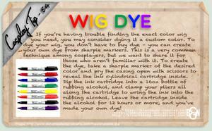 Cosplay Tip 54 - Wig Dye by Bllacksheep
