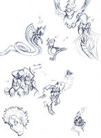 NONfected sketchdump 3 by reynaruina