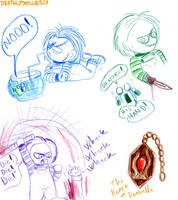 Chucky doodles by Deathlydollies13