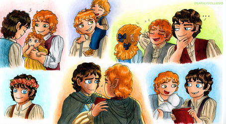 Hobbitses by Deathlydollies13