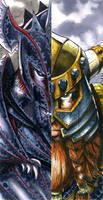 Dark Elf versus Dwarf by DKuang