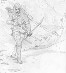 Drizzt Do'urden Sketch by DKuang
