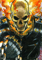 Ghost Rider Sketch Card by DKuang