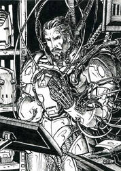 Iron Man ATC Inks by DKuang