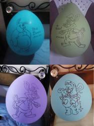 Balloon Bunnies by gato303co
