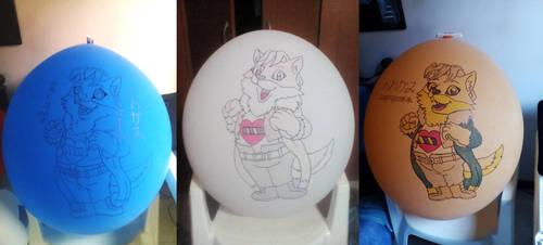 Oogami Care Bear Balloons by gato303co