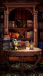Wizards Study by DLPancake