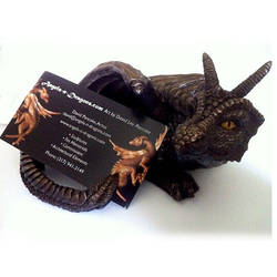 Dragon Business Card Holder by DLPancake