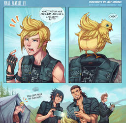 FFXV - Chocobutt by Jeff-Mahadi