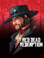 Red Dead Redemption John Marston by Bing-Ratnapala