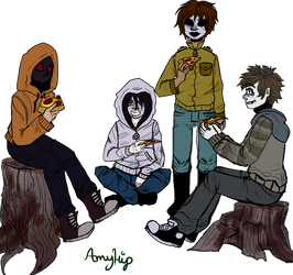 Pizza Proxy Party by Amyhip