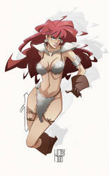Red Sonja WIP by franganesques