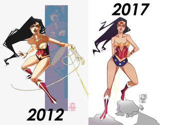 Wonder Woman Before/After ! by franganesques
