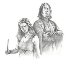 Hermione and Snape by mgasser