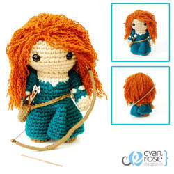 Merida, from Brave - Crochet Amigurumi Doll by CyanRoseCreations