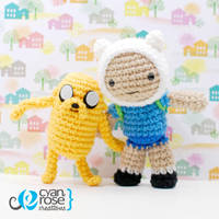 Finn and Jake - Adventure Time - Crochet Patterns by CyanRoseCreations