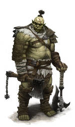 Orc warrior by dimelife