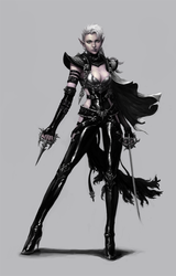 Dark elf assassin by dimelife