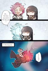 Indirect kiss by Kur0-sakura