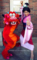 Mulan and Mushu by DisneyLizzi