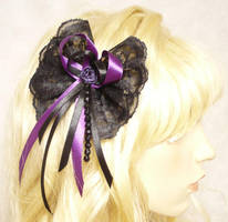 Gothic hair clip black-violet by Estylissimo
