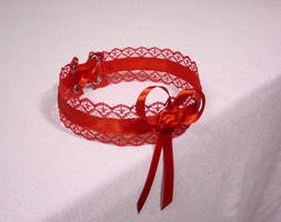 Red Satin Choker by Estylissimo