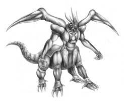 Final Fantasy VII - Ultima Weapon (Line Art) by SoulStryder210