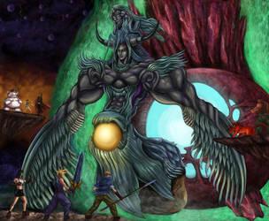 Final Fantasy VII - Bizarro Sephiroth Battle by SoulStryder210