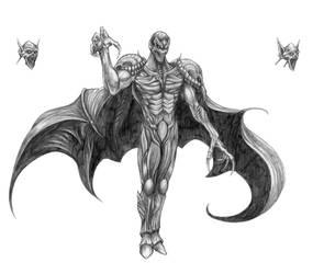 Final Fantasy V - Necrophobe (Line Art) by SoulStryder210