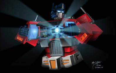 Prime To Change Botcon Print by hiredhand