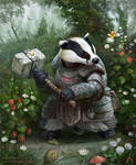 Badger-knight by Vaejoun