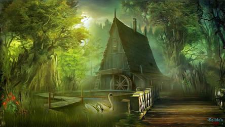 Fairy world (7) Swans by makiskan