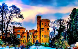 Castle In The Winter Landscape by makiskan