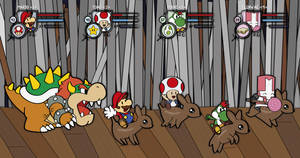 Mario's escape by Elenwae