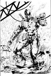 Deadpool Inks by Vandal1z