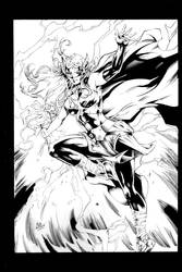 Lady Thor INKS by Vandal1z