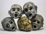 Mummified Heads by FraterOrion