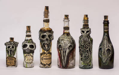 Creepy Bottles 4 Halloween by FraterOrion