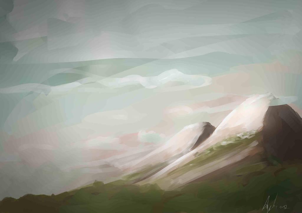 Mountains and stuff by Apticx