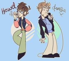 Hewll And Damon - Toony by Choco-Floof