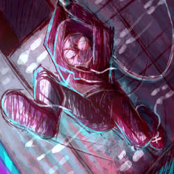Into the spiderverse - Sketchy - Miles by Choco-Floof
