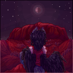 Uluru night - Commission by Choco-Floof