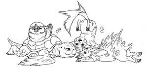Pokemon Blue Team by LeeDassin