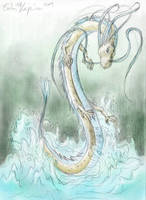 Water dragon by Lord-Evell